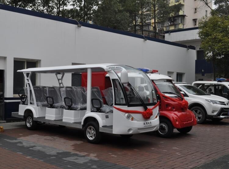 成都校园电动观光车-成都大学