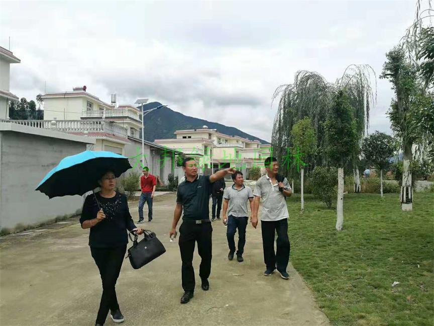 四川绿化工程考察团队