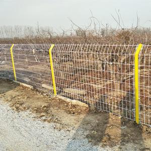 山东省昌邑市某果园梨枣园双边护栏网安装实例