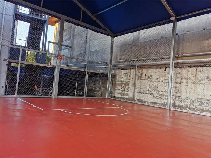 德州大學路水文二隊硅PU籃球場