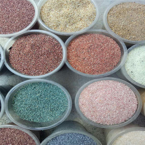 天然彩石砂
