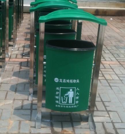 宜昌鸿铭物业选择不锈钢垃圾桶使用情况