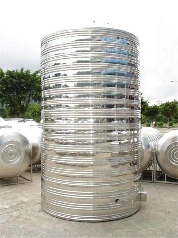 圆柱不锈钢水箱产品展示图