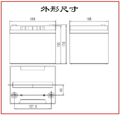 SE 12-38鉛酸蓄電池外型