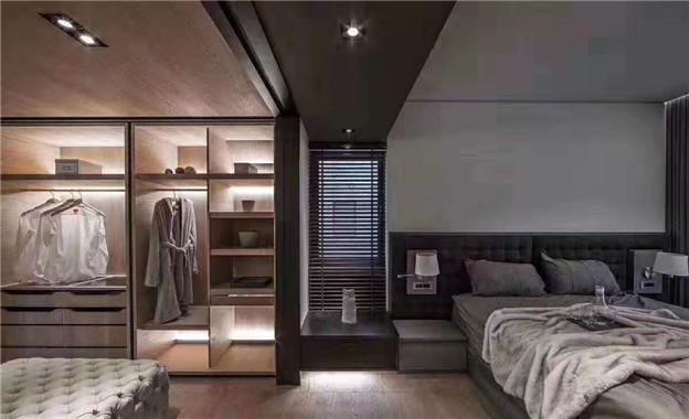 潮创装饰——黑白灰现代卧室2