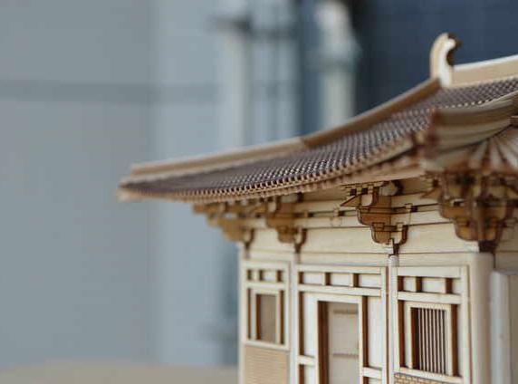 陕西古建模型