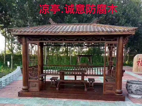 西安防腐木加工产品
