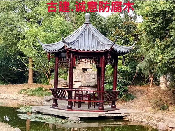 西安防腐木凉亭