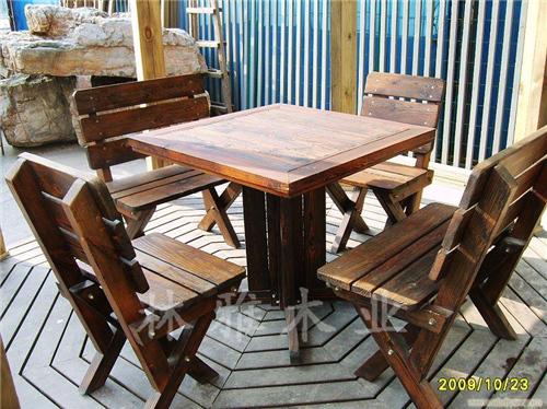 河南防腐木戶外桌椅