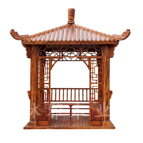 河南防腐木凉亭-碳化亭