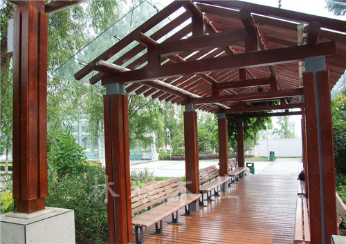 鹤壁防腐木长廊