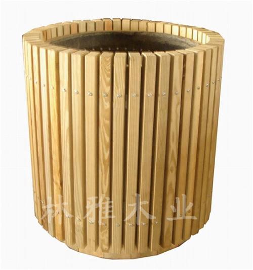 河南防腐木垃圾桶