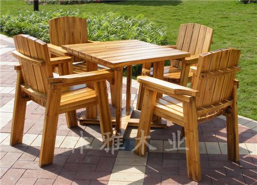 河南防腐木户外桌椅