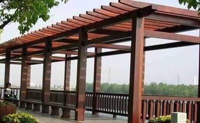 信阳防腐木花架