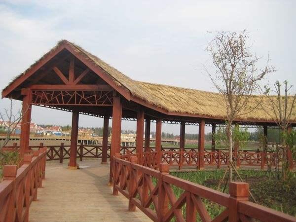 三门峡防腐木长廊