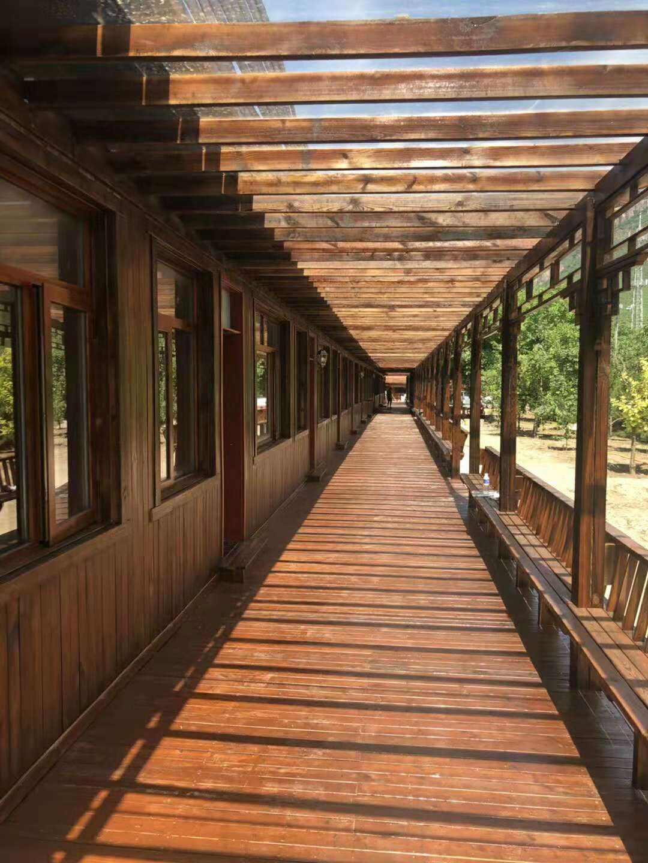 晋城防腐木长廊