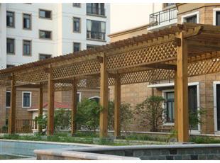 信阳防腐木花架设计
