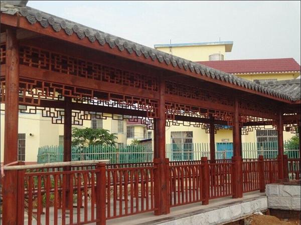 西安防腐木长廊