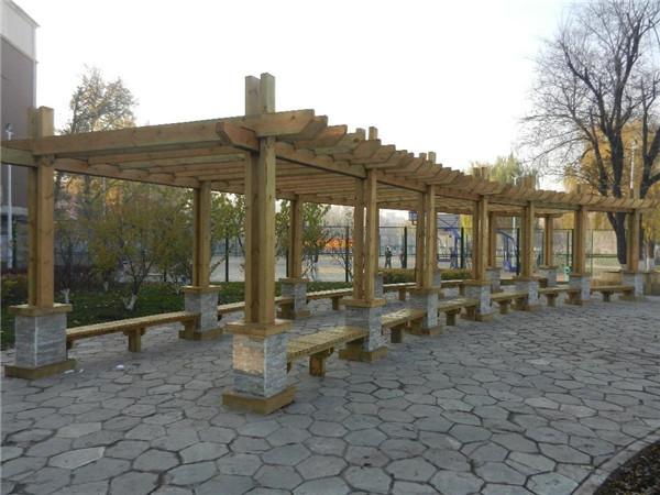 西安防腐木花架
