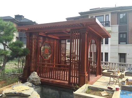 西安防腐木凉亭案例