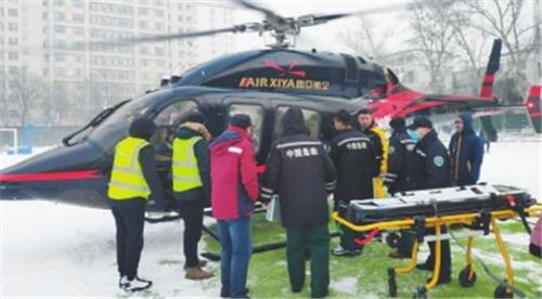 情况危急,直升机转运患者 新疆首例民间航空应急医疗救援完成