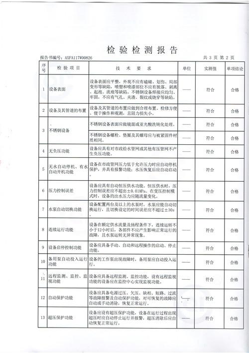 质量检测报告无负压变频004