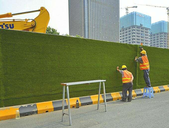 成都草坪围挡施工