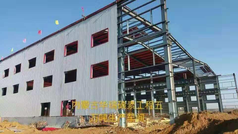蒙鑫钢结构与内蒙古华瑞碳素合作