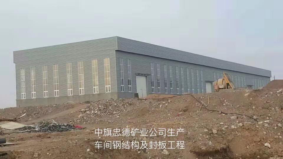 蒙鑫钢结构与内蒙古忠德矿业合作