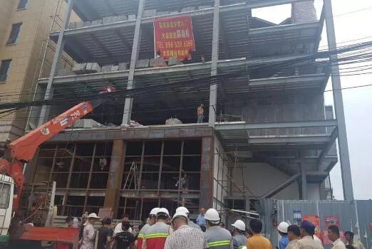 中资钢结构建筑工地