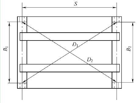 起重机桥架跨度、对角线示意图
