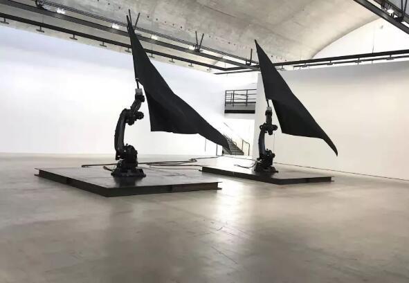 作品《黑旗》(Black flags,2014)