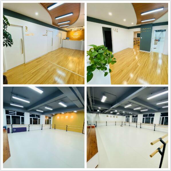 拥有4个标准化舞蹈教室