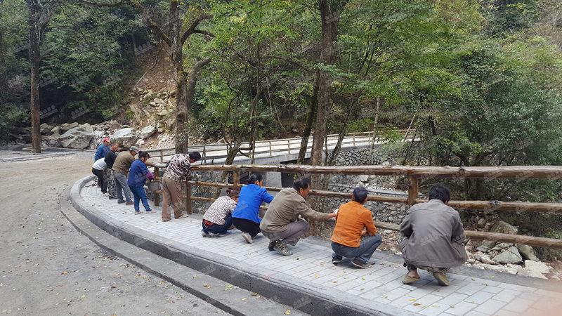 汉中仿木制品护栏施工团队