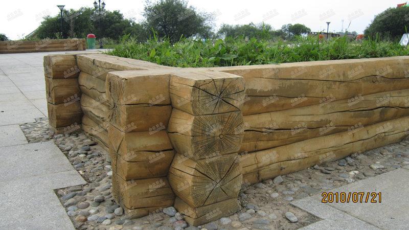 汉中花箱-水泥仿木花箱