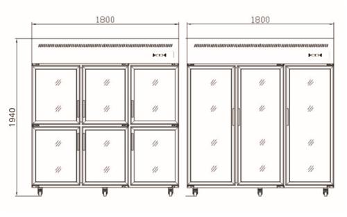 厨房设备专用四川冷藏冷冻柜六门冰箱批发