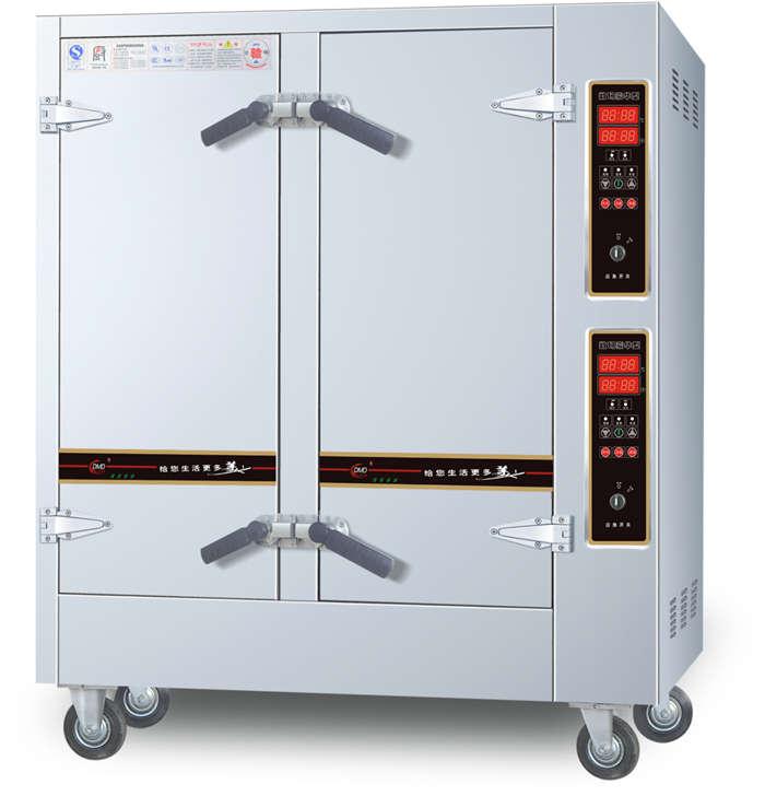四川蒸饭车-侧控数码豪华型电汽两用蒸柜
