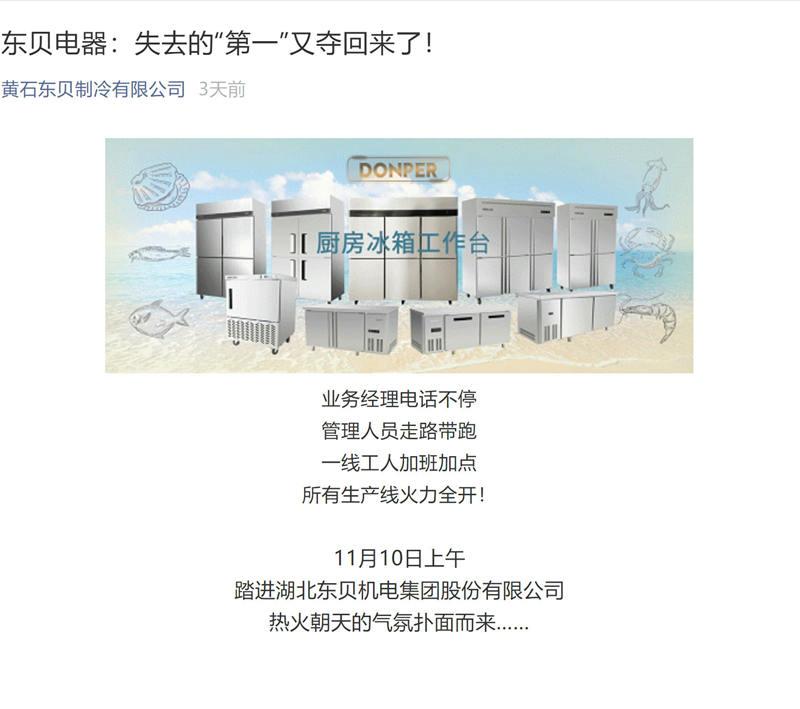 东贝冰箱产品