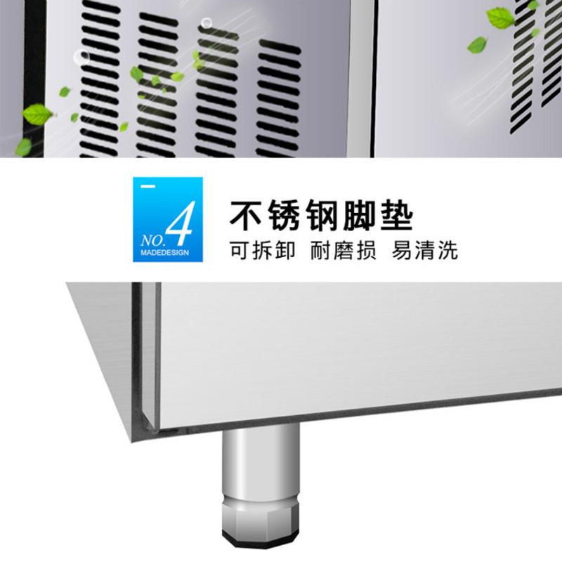 冷藏冷冻平台柜脚柱细节