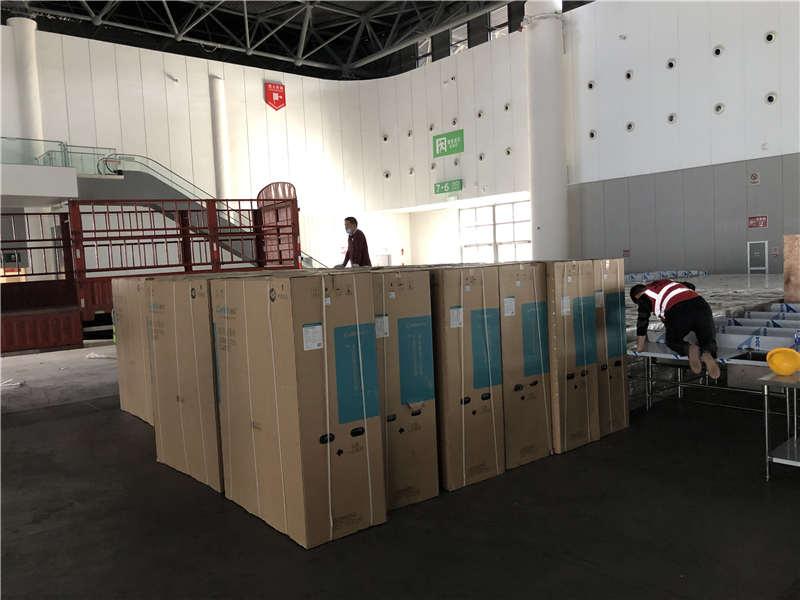 成都会展中心消毒柜配送卸货