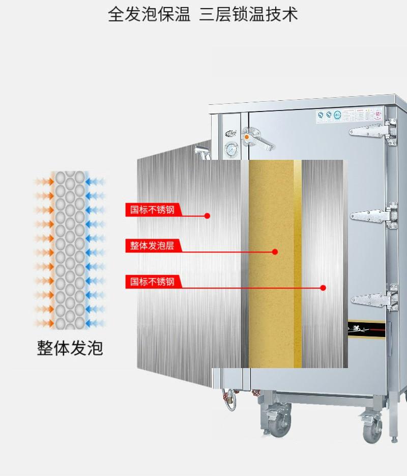 多美多电热推车式蒸柜保温材料