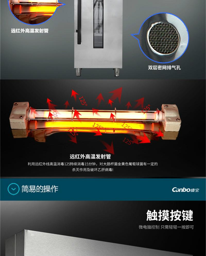 四川热风循环消毒柜125℃
