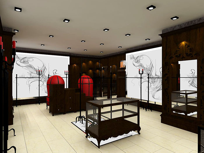 服装店在选择西安展柜时色彩的重要性