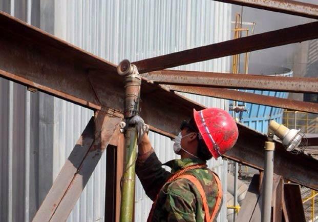 成都钢结构防腐工程施工现场