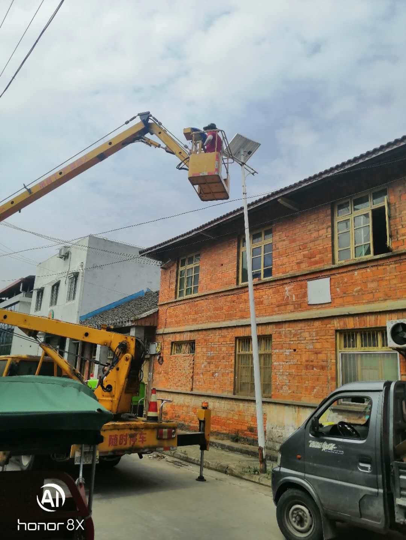 安州区塔水镇宝林街道太阳能路灯更换
