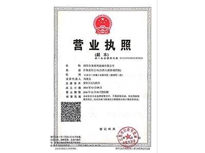 綿陽市一级片玻璃有限公司營業執照