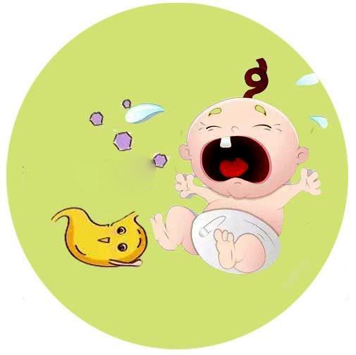 儿童肠胃受到刺激