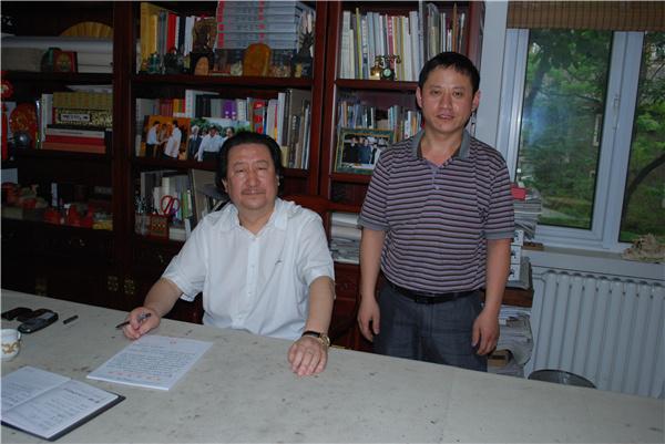 西安刘文西字画收购-名师合影