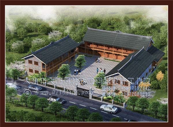 湖北仿古建筑设计—四合院设计