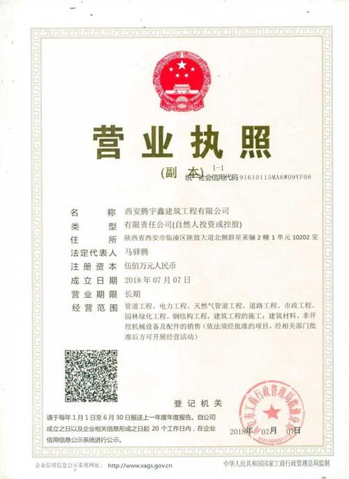 腾宇鑫营业执照